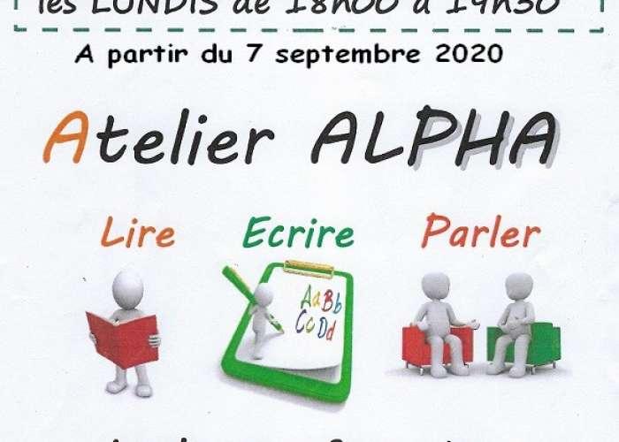 image de Annulation jusquà nouvel ordre Atelier ALPHA - Cours de français