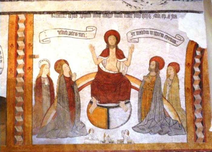 image de Les fresques de l'église Saint-Eutrope